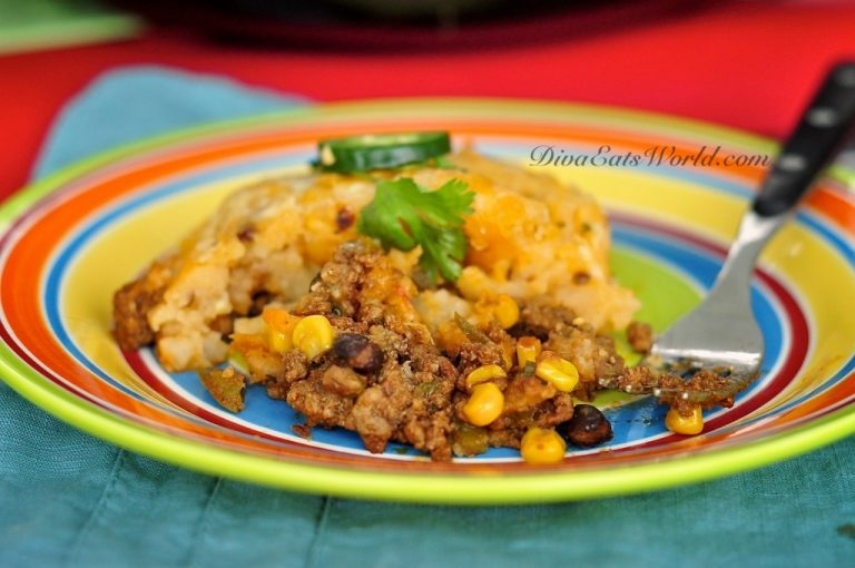 Mexican Shepherds Pie w/ Chipotle Mashed Potatoes