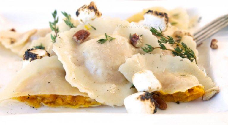 Maple-Sweet-Potato-Ravioli-Toasted-Marshmallows-Pecans-1