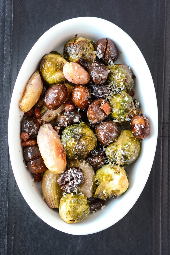 ROASTED-BRUSSEL-SPROUTS-SHALLOTS-CHESTNUTS-w-PANCETTA
